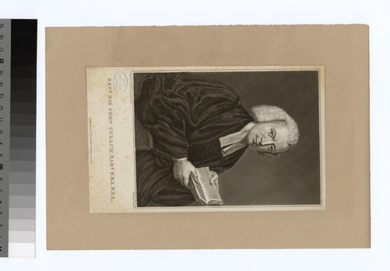 Portrait of Revd Sir J. Cullum