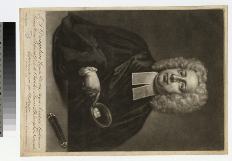Portrait of J. T. Desaguliers (WAHP22372)