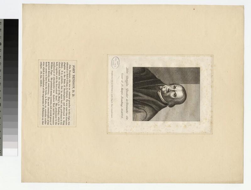 Portrait of Revd J. Denison