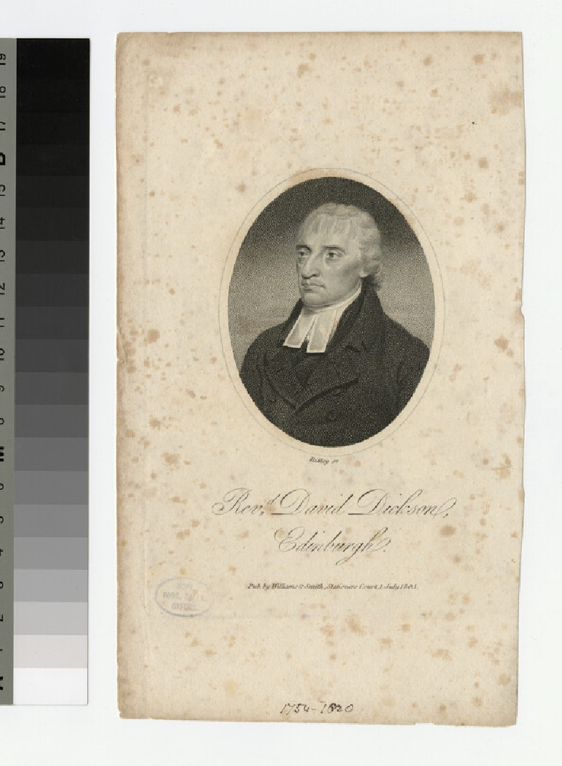 Portrait of D. Dickson (WAHP22413)