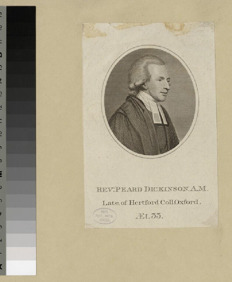 Portrait of Revd P. Dickinson