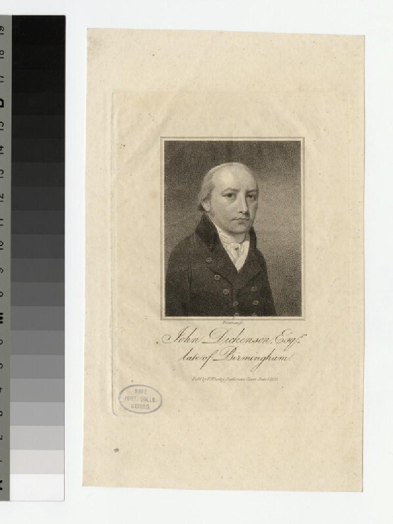 Portrait of J. Dickenson (WAHP22418)
