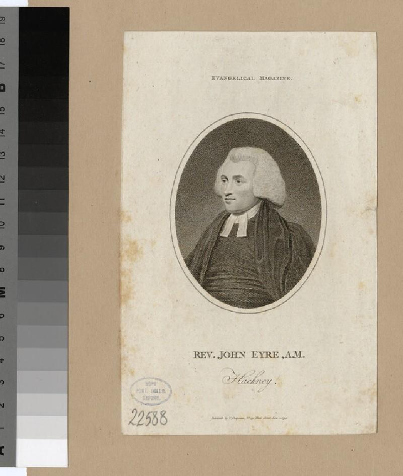 Portrait of J. Eyre (WAHP22588)