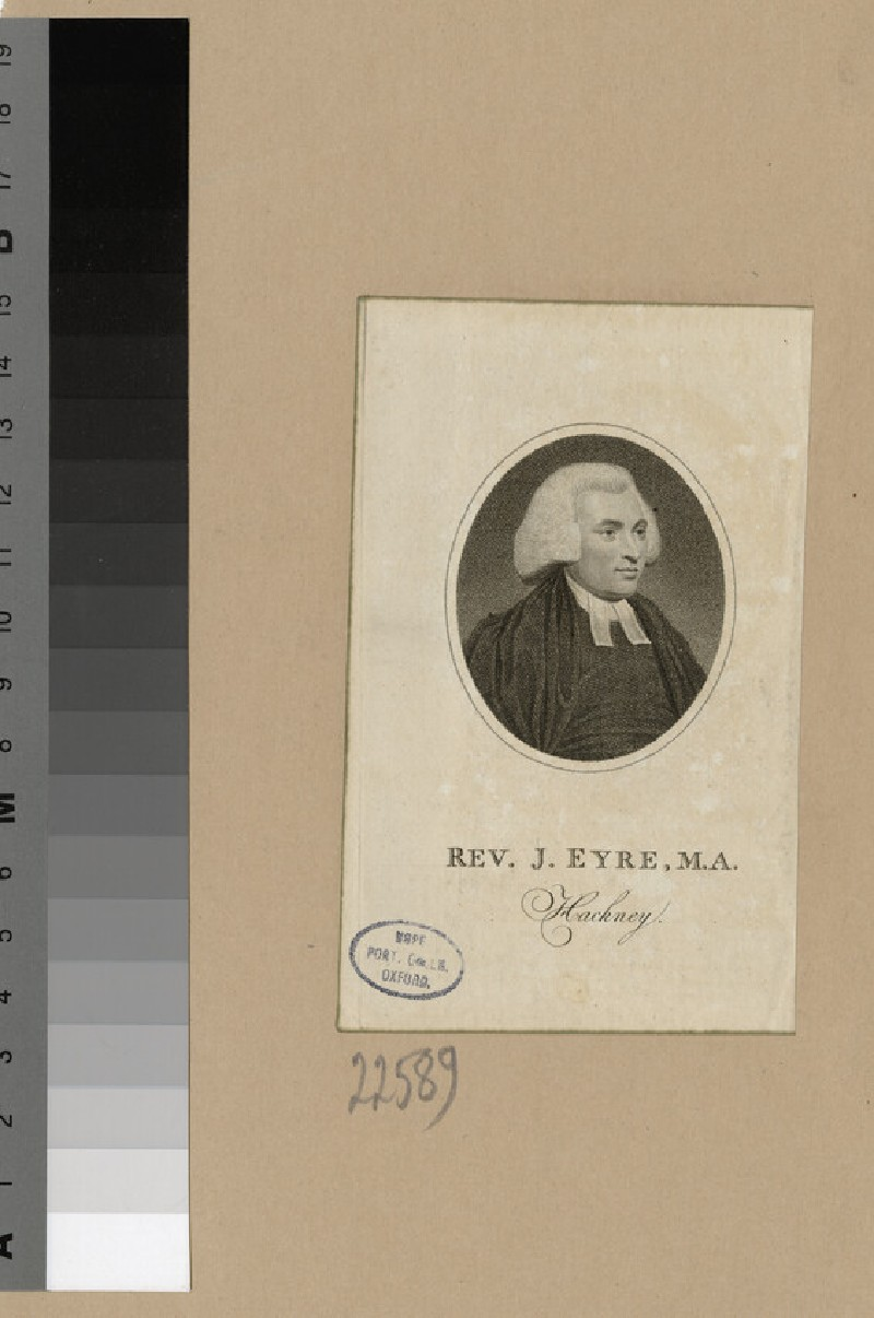 Portrait of J. Eyre (WAHP22589)