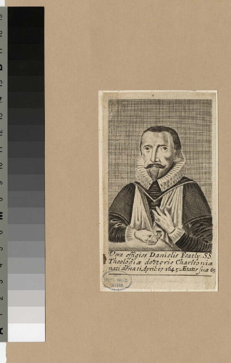 Portrait of Revd Dr D. Featly (WAHP22681)