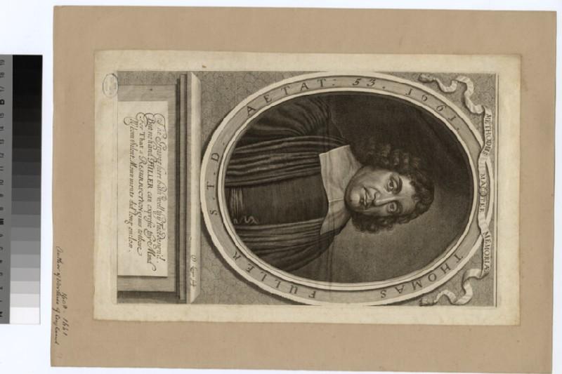 Portrait of Revd Dr T. Fuller (WAHP22791)