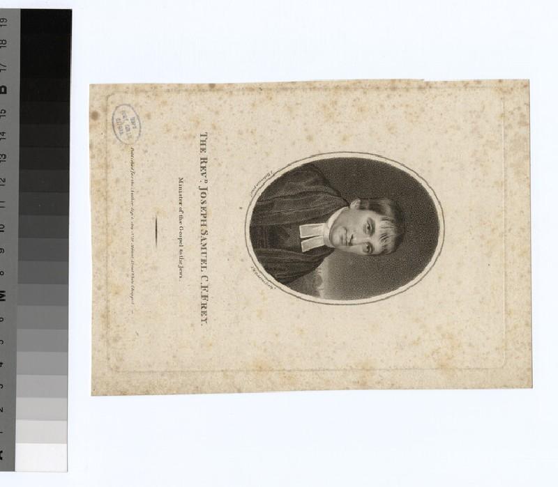 Portrait of the Revd Joseph Samuel Christian Frederick Frey