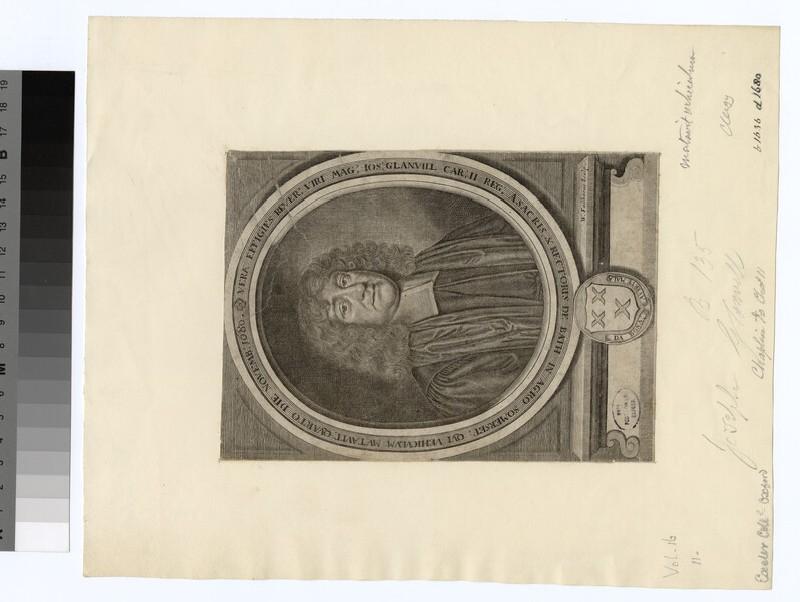 Portrait of Revd J. Glanvill
