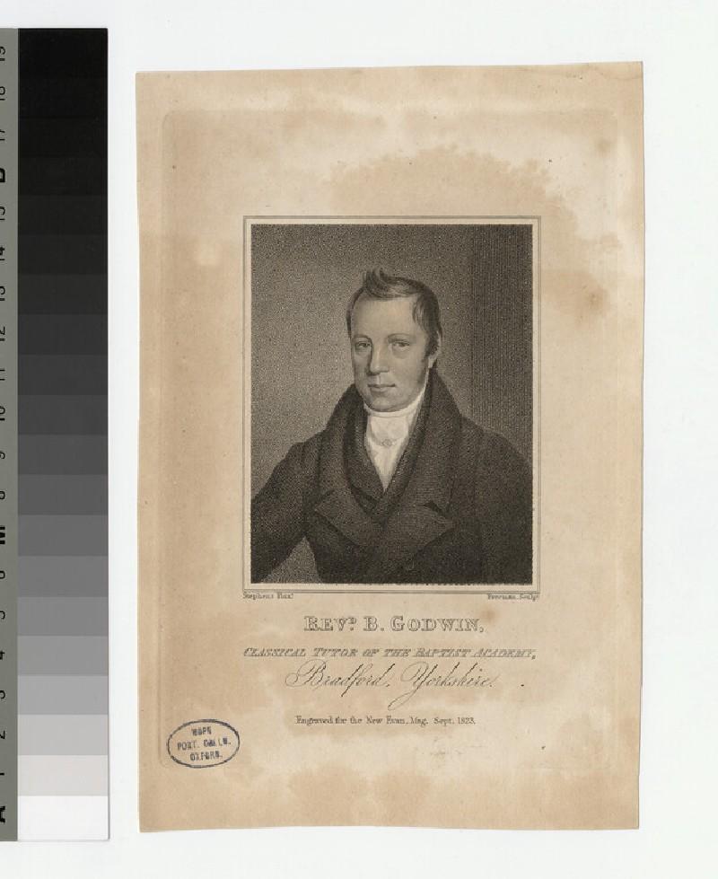 Portrait of Revd Benjamin Godwin