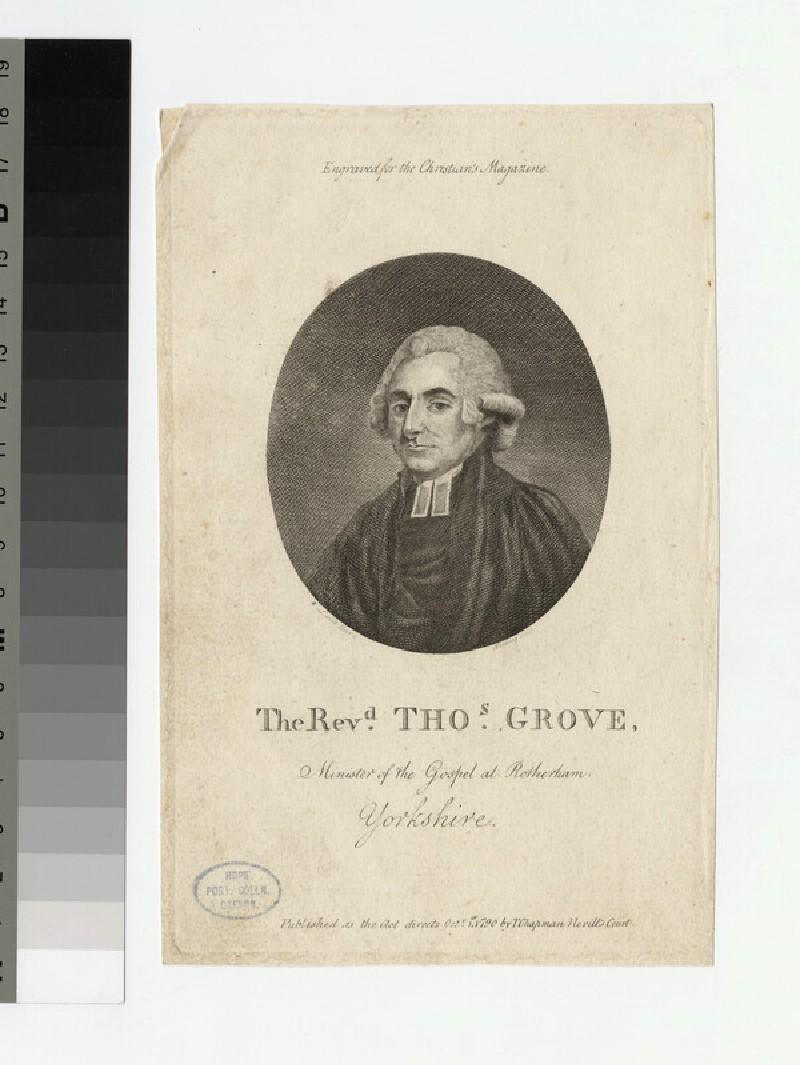Portrait of Thomas Grove