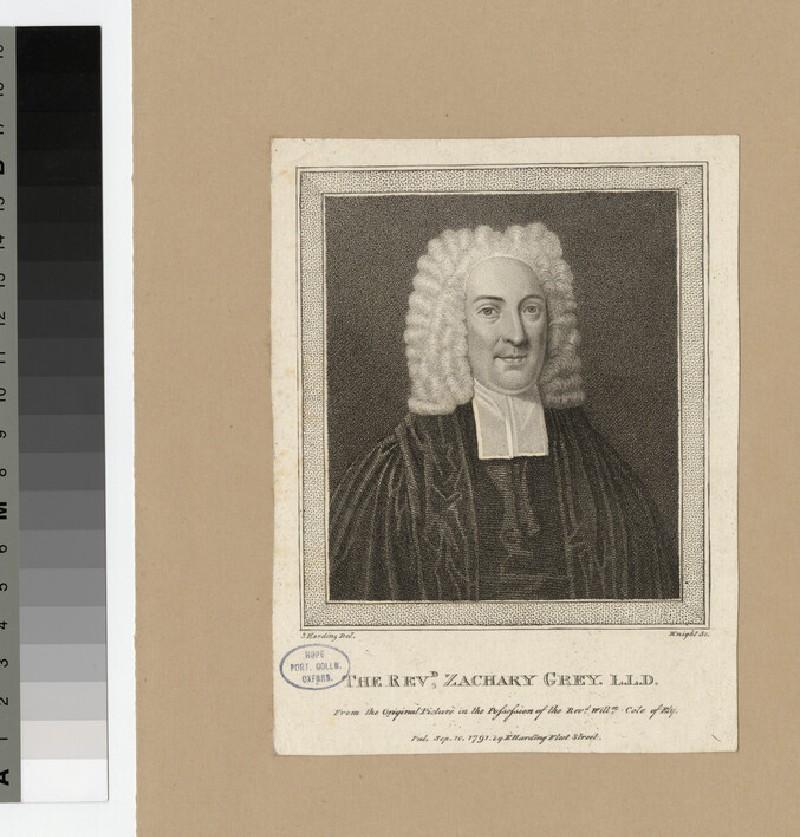 Portrait of Revd Dr Z. Grey