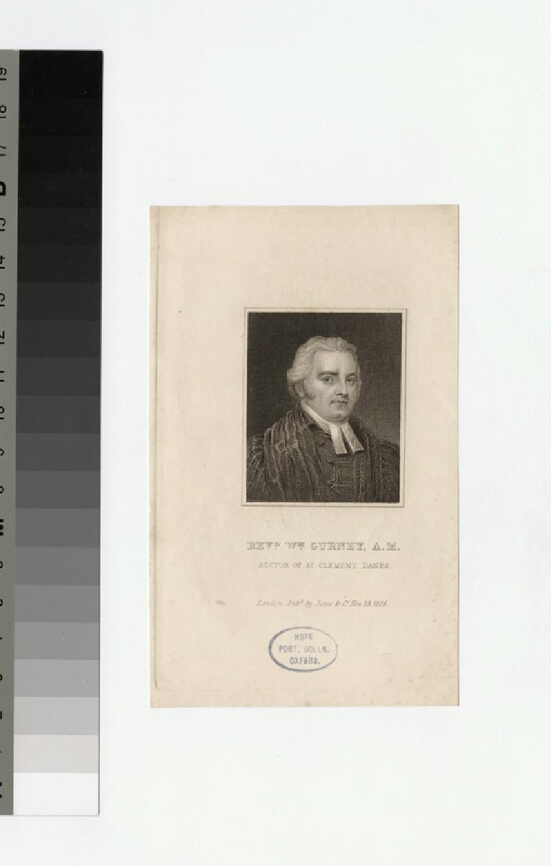 Portrait of Revd W. Gurney
