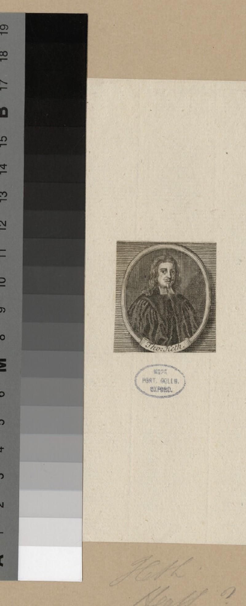 Portrait of Revd T. Heth