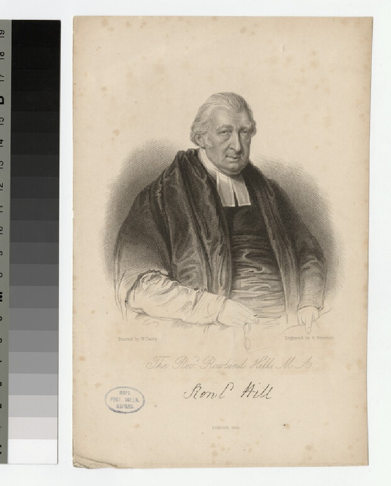 Portrait of Revd R. Hill (WAHP23561)