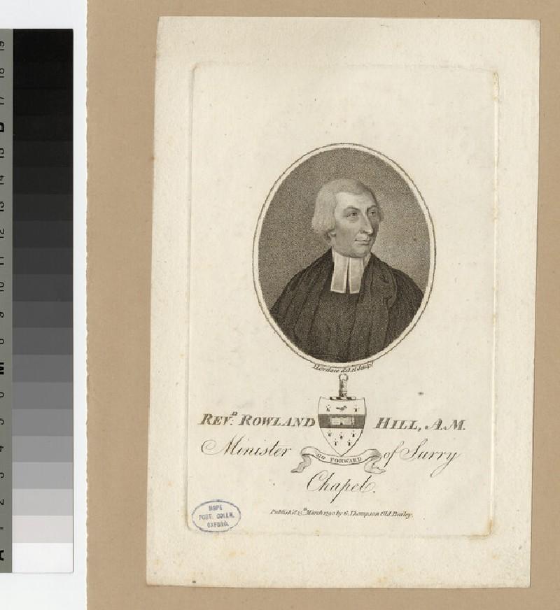 Portrait of Revd R. Hill