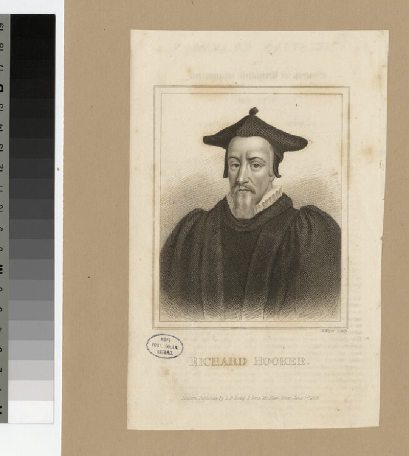 Portrait of Revd Dr R. Hooker (WAHP23627)