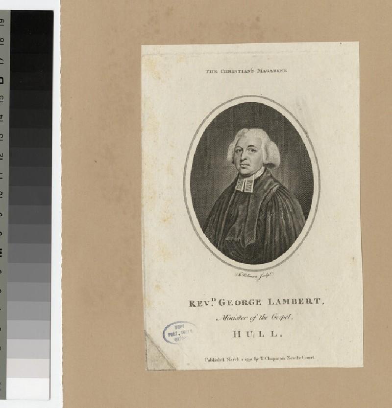 Portrait of Revd George Lambert