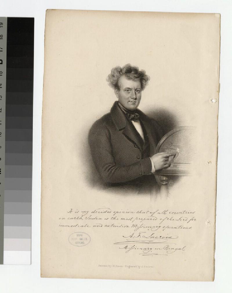 Portrait of A. F. Lacroix (WAHP23873)