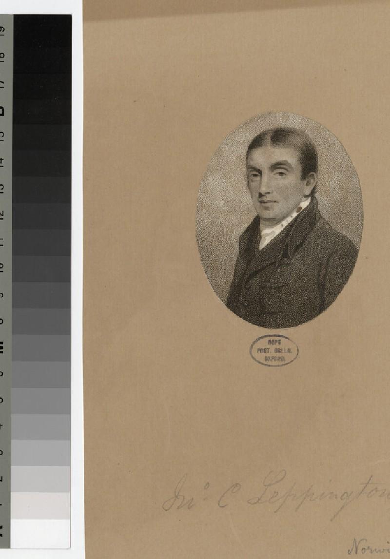 Portrait of J. C. Leppington