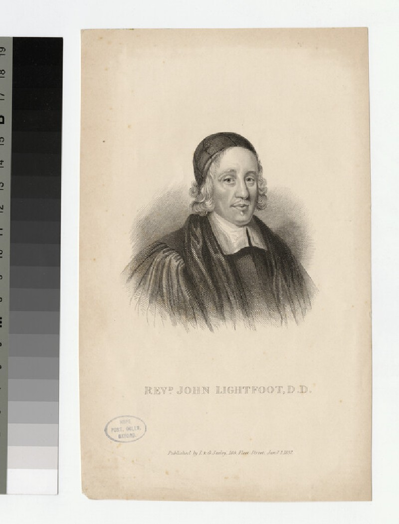 Portrait of Revd Dr J. Lightfoot (WAHP23947)