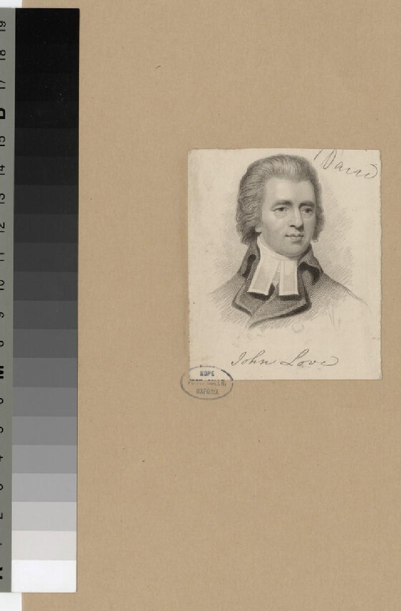 Portrait of J. Love