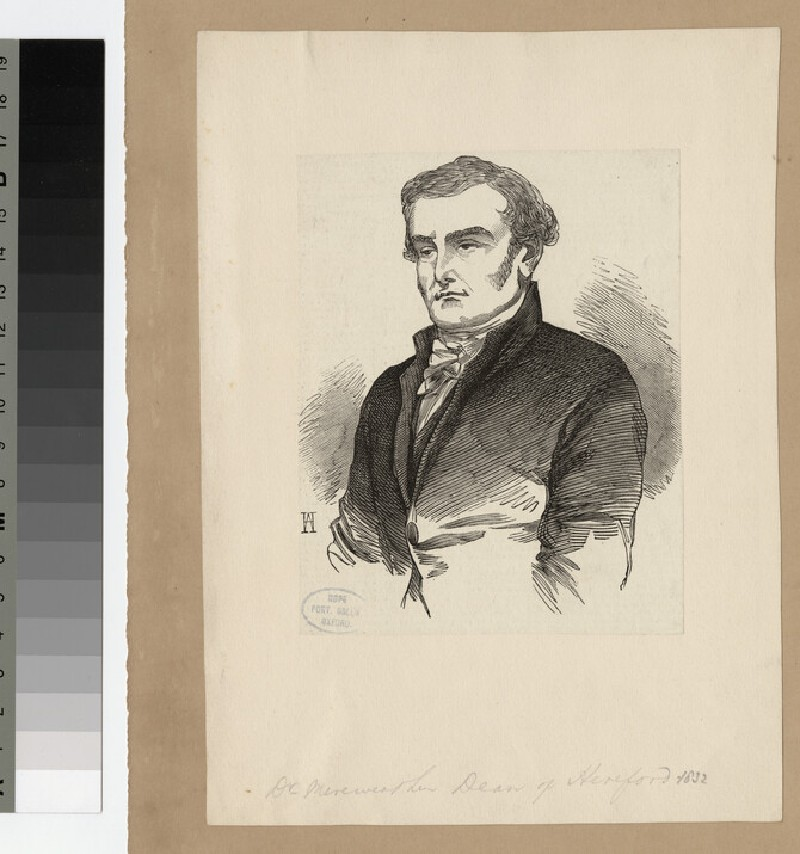 Portrait of Very Revd J. Merewether (WAHP24146)