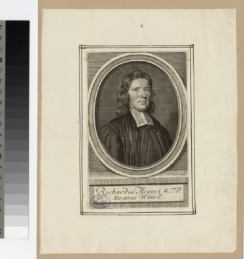 Portrait of Very Revd R. Meggot (WAHP24159)