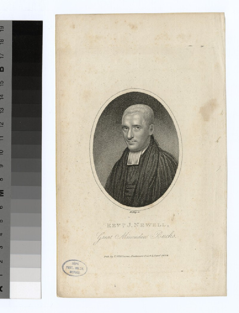 Portrait of Revd J. Newell (WAHP24340)