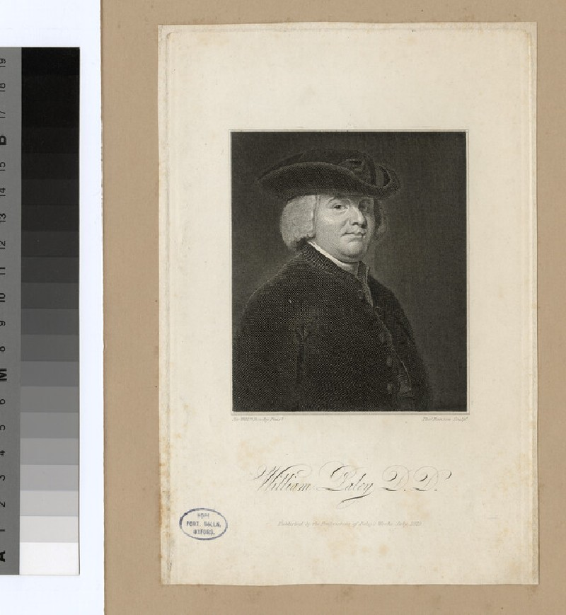 Portrait of Revd Dr W. Paley (WAHP24470)