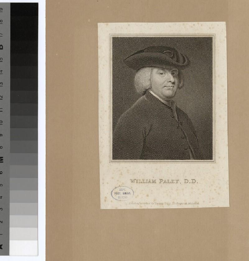 Portrait of Revd W. Paley