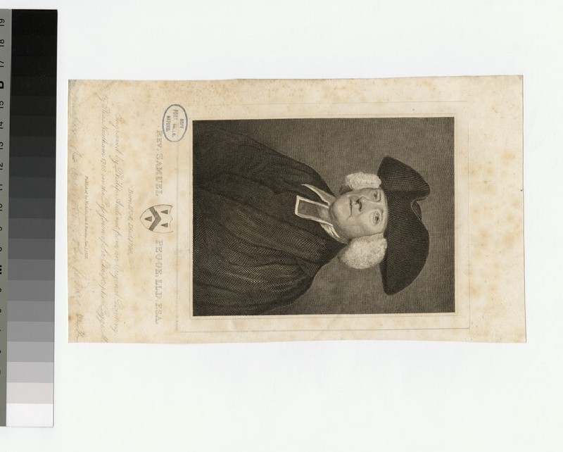 Portrait of Revd S. Pegge (WAHP24536)