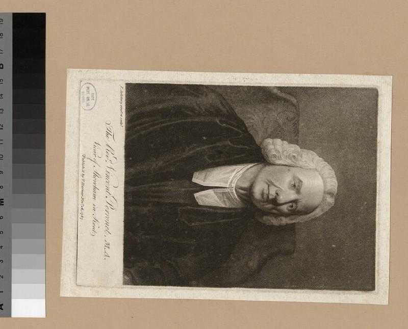 Portrait of Revd V. Perronet (WAHP24581)