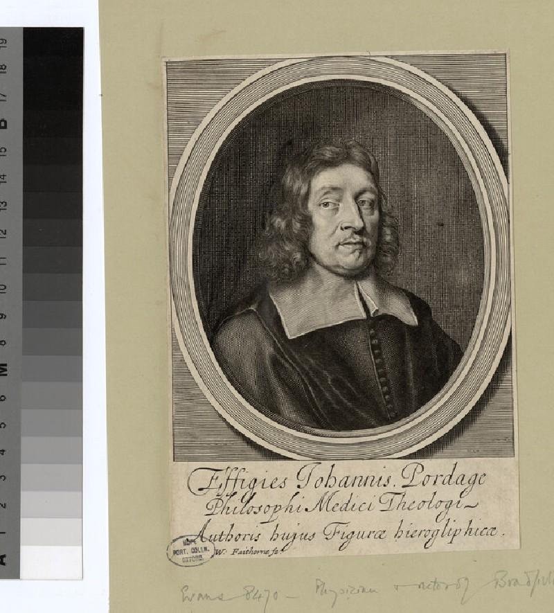 Portrait of J. Pordage (WAHP24670.1)