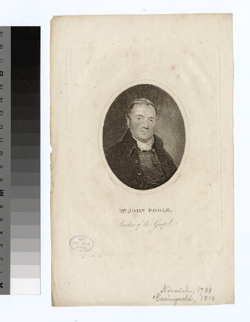 Portrait of J. Poole (WAHP24675)