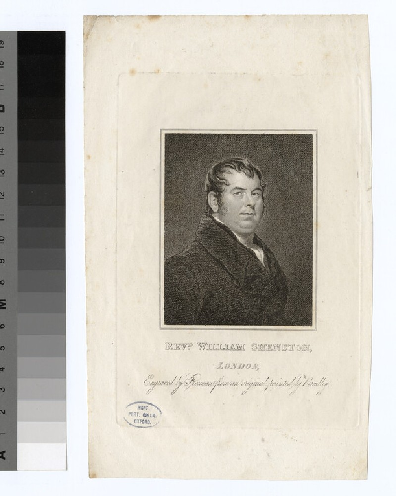 Portrait of W. Shenston