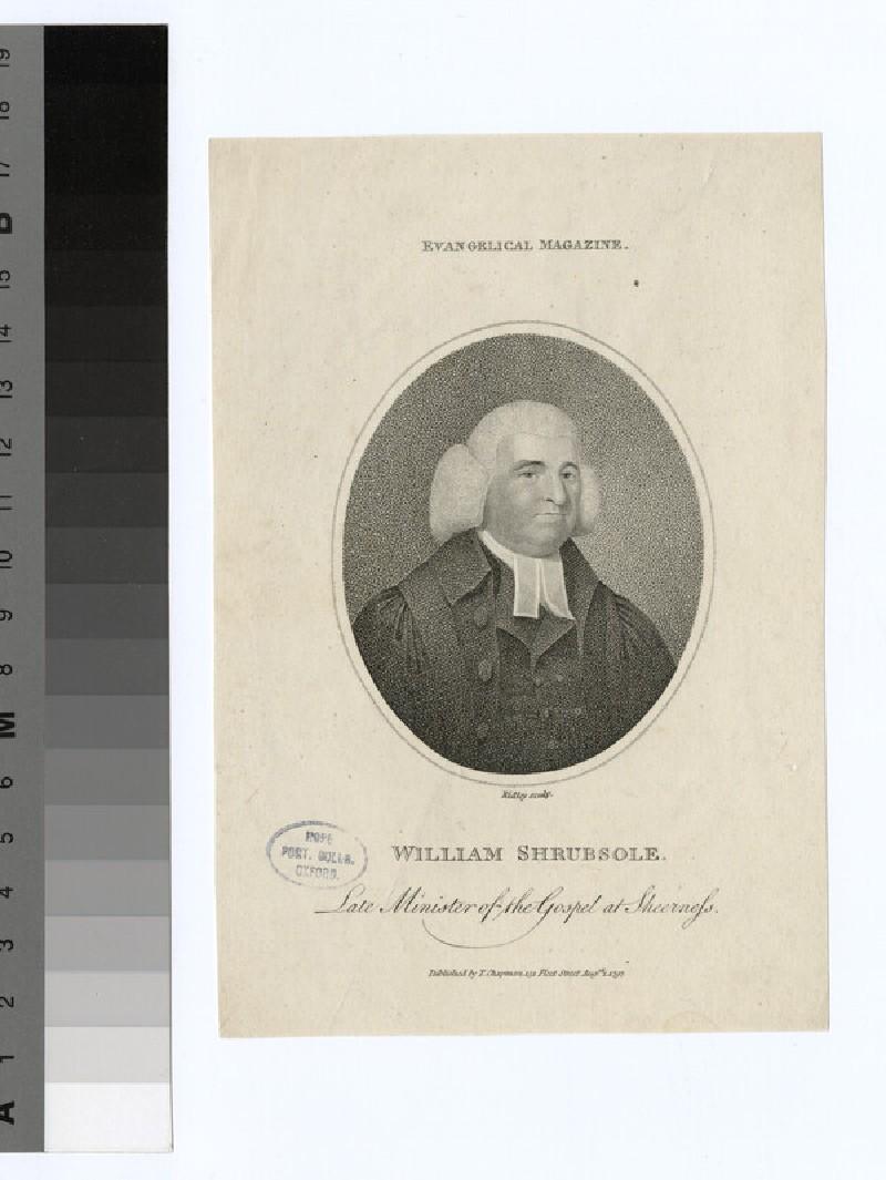 Portrait of W. Shrubsole