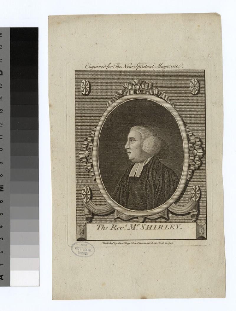 Portrait of Revd Mr Shirley