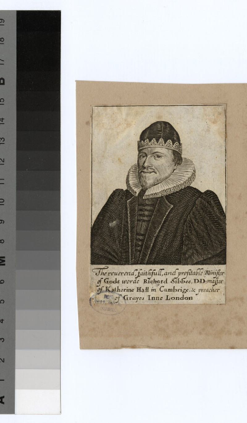 Portrait of R. Sibbes (WAHP24780)