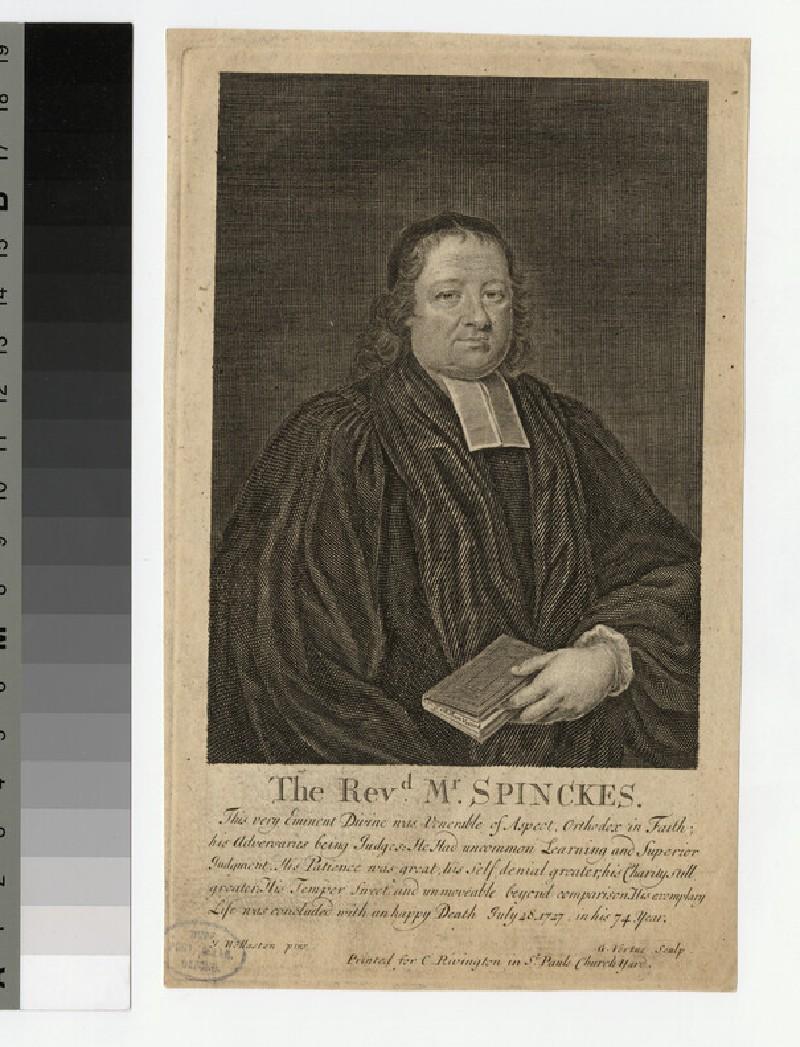 Portrait of Revd Dr N. Spinckes (WAHP24891)