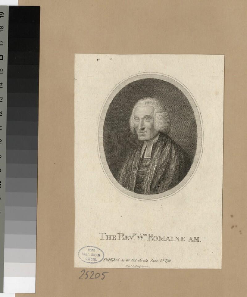 Portrait of Revd W. Romaine (WAHP25205)