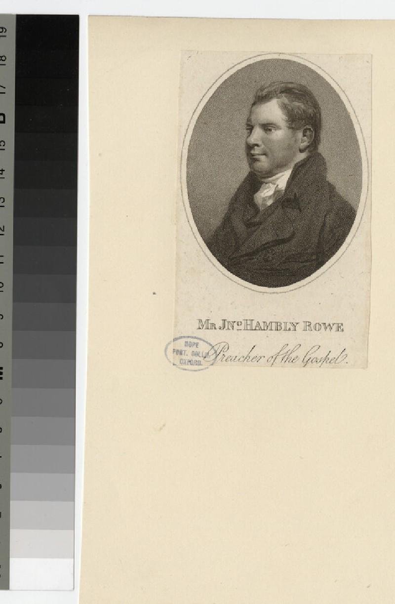 Portrait of J. H. Rowe