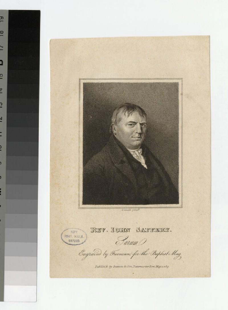 Portrait of J. Saffery