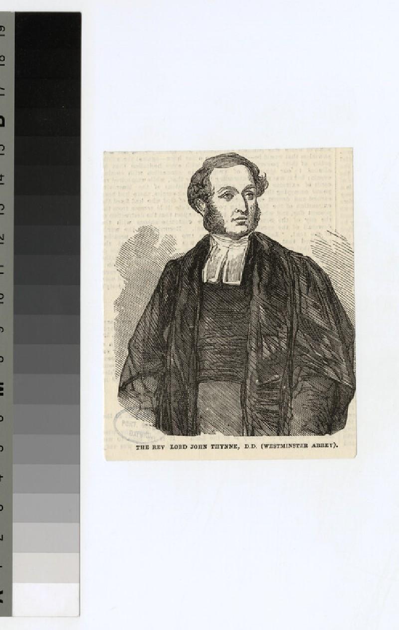 Portrait of Revd Lord J. Thynne