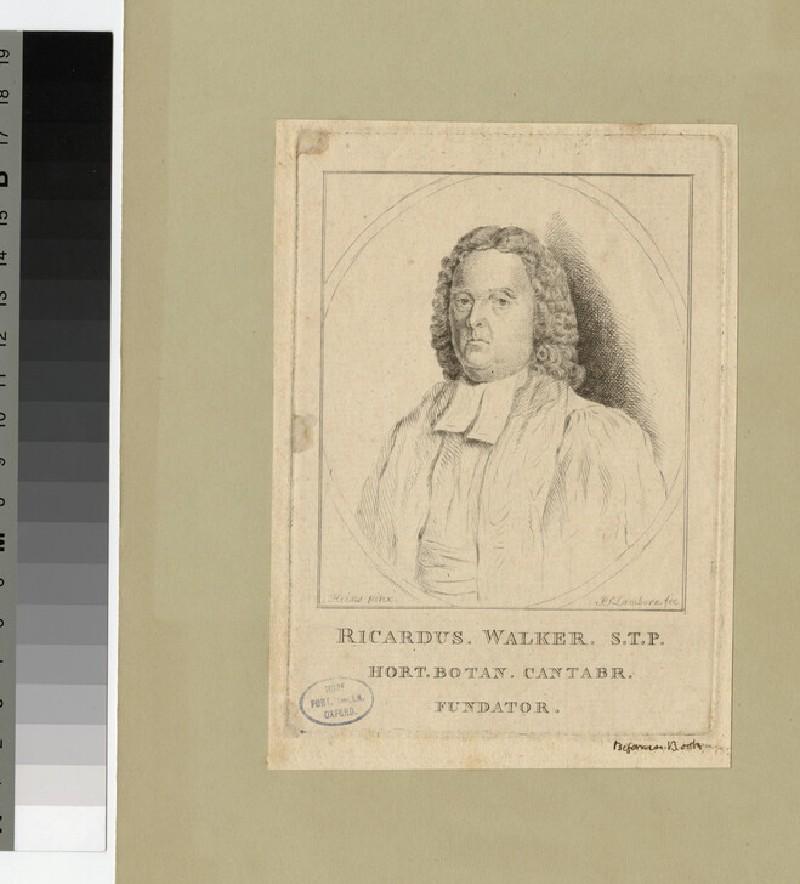Portrait of the Reverend Dr Richard Walker