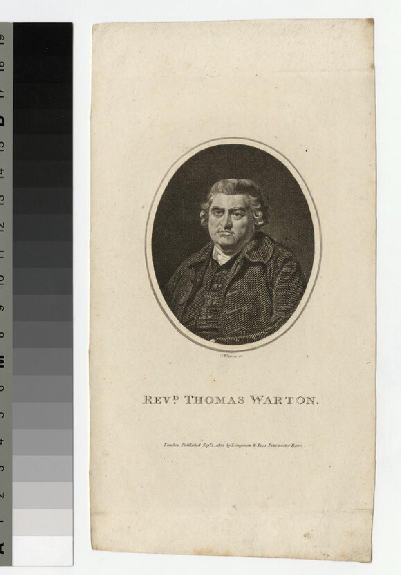 Portrait of Revd T. Warton (WAHP25722)