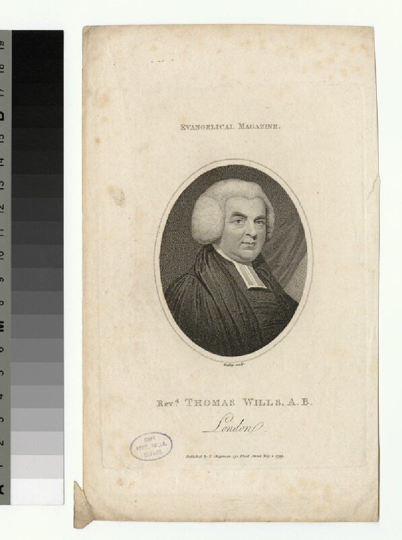 Portrait of T. Wills
