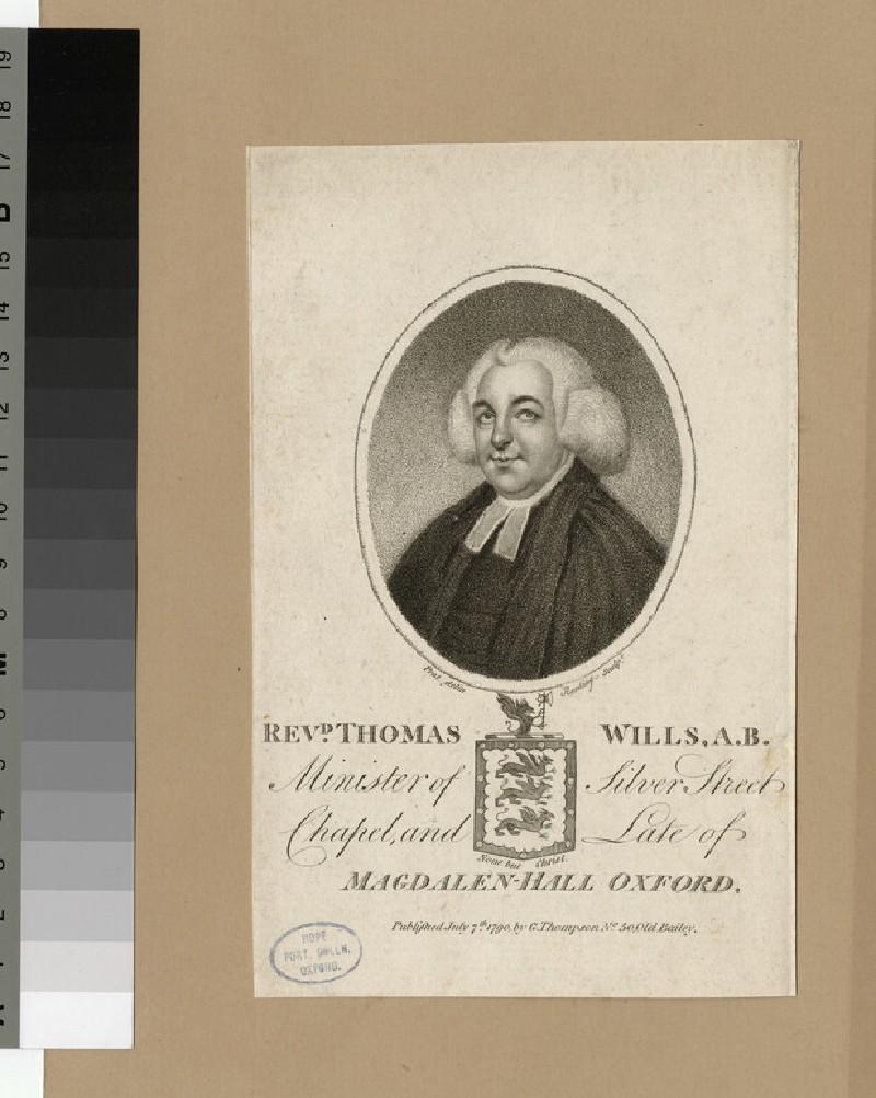 Portrait of Thomas Wills
