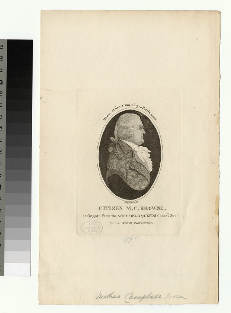 Portrait of Matthew Campbell Browne