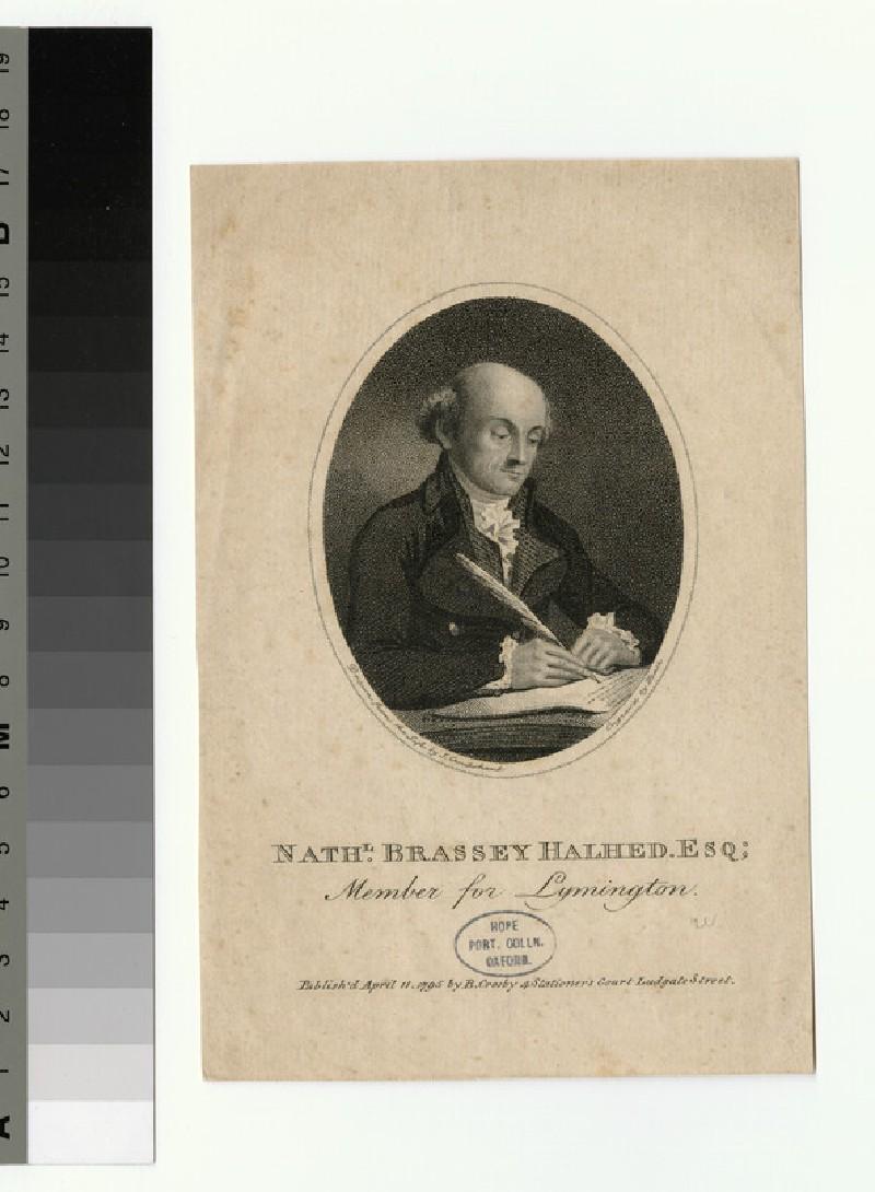 Portrait of N. B. HAlhed (WAHP27354)