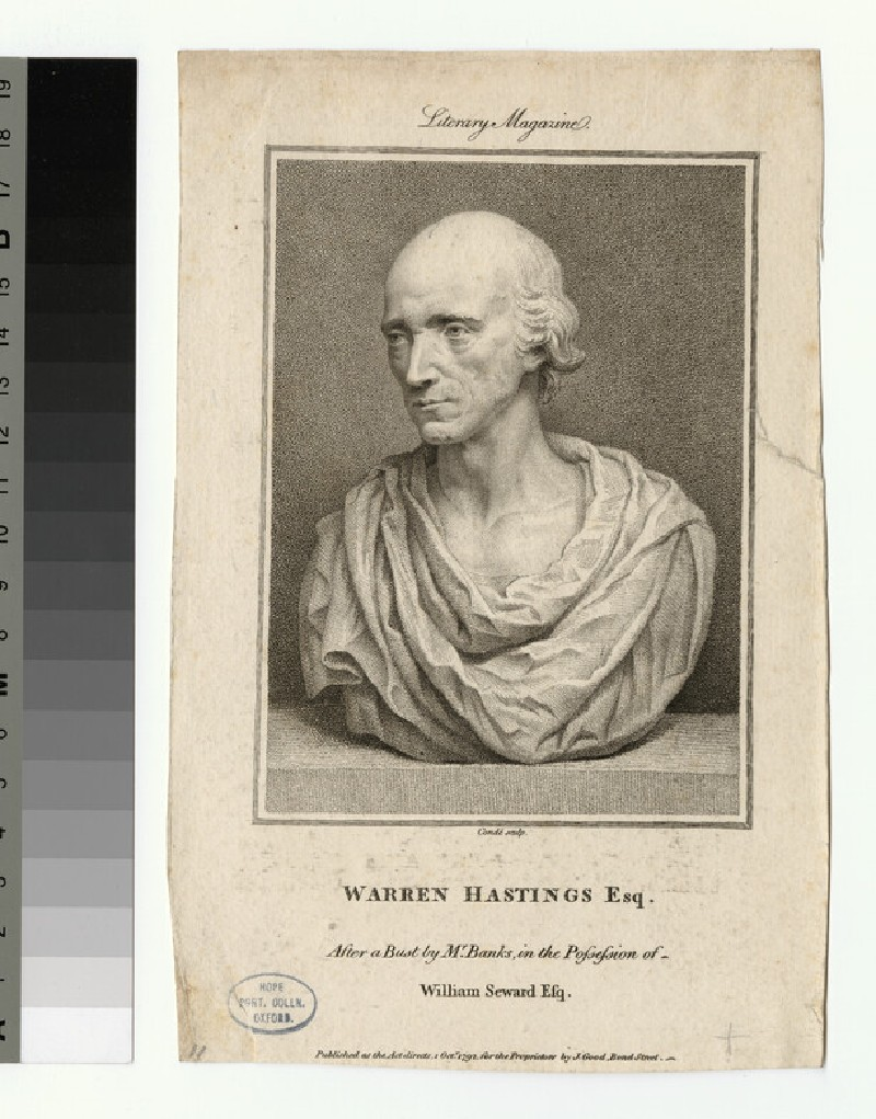 Portrait of W. Hastings